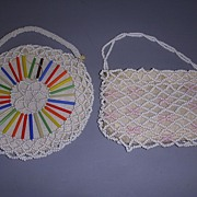 Pair of Vintage Doll or Child's Beaded Purses!