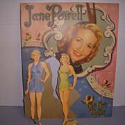 "1951 Vintage ""Jane Powell"" Paper Doll Set !"