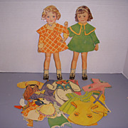 "1936 Vintage Paper Doll Set ""Honey & Bunny Stand-Up Dolls"" Paper Dolls!"