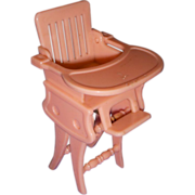 Vintage Ideal Miniature Doll High Chair/Rocker with Tray!