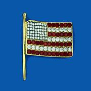 KJL Patriotic Flag Pin - Pendant