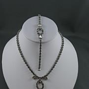 Sparkly Rhinestone Necklace and Bracelet Demi