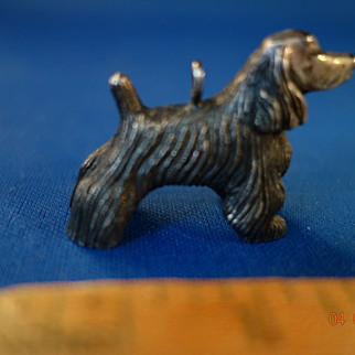 Solid Sterling Silver Cocker Spaniel Dog Stands & Pendant