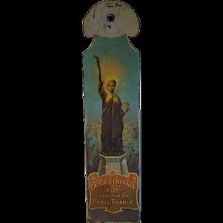 Antique Enameled Metal Paris France Fire Insurance Plaque Rare