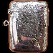 English Sterling Silver Vesta or Match Safe
