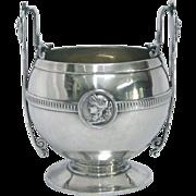 Classical Gorham Medallion Coin Silver Open Sugar Bowl