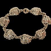 Danecraft Sterling Silver Leaf Link Bracelet