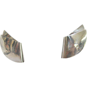 Stunning Modern Georg Jensen Sterling Silver Earrings