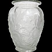 1930's Verlys Alpine Thistle Art Glass Vase