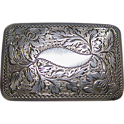 George IV  Sterling Silver Vinaigrette by L & Co 1823