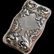 Gorham Sterling Silver Foliate Motif Match Safe ,B682
