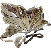 Taxco 940 Silver Maple Leaf Dish by Hector Aguilar
