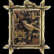Rare 19th Century Japanese Shakudo Locket