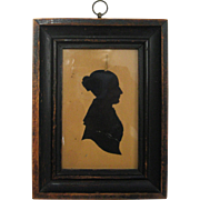 1850s Silhouette Cut Out Portrait of a Lady