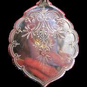 Gorham Sterling Silver Medallion Brite Cut Tomato Server in Original Case (1864)