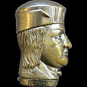 Christopher Columbus Figural Match Safe for 1892 Worlds Fair