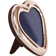 Small Italian Silver Heart Shaped Frame