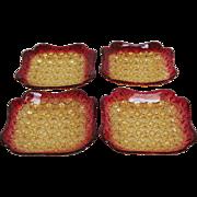 Amberina Daisy and Button 4 Dish Dessert Set