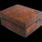 Solid Amboyna Burlwood Box, circa 1930s