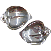 A Pair of Tiffany & Co. Sterling Silver Leaf-Shaped Nut Dishes