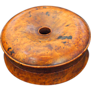 Russian Beechwood Burl Wood Donut Shaped Box