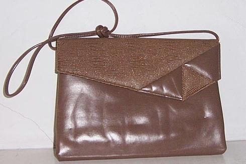 Brown Envelope Style Clutch Shoulder Bag Mint!