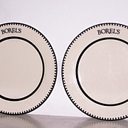 2 Homer Laughlin Dinner Plates Borel's Vitrified China