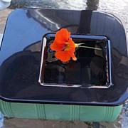 Vintage Glass Garden Container / Planter