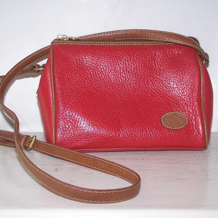 Liz Claiborne  Pebbled Leather Shoulder Bag