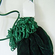 Green Velvet Purse Pouch Victoria's Secret ~ Mint!
