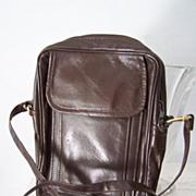 Brown Leather Unisex Multi Use Shoulder Bag Mint!