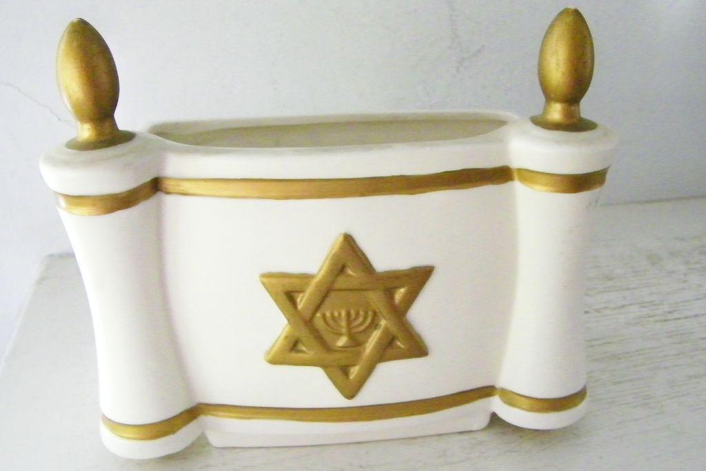 Leftons Star of David / Menorah planter / vase