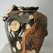 Ceramic Vase Tree Log Motif