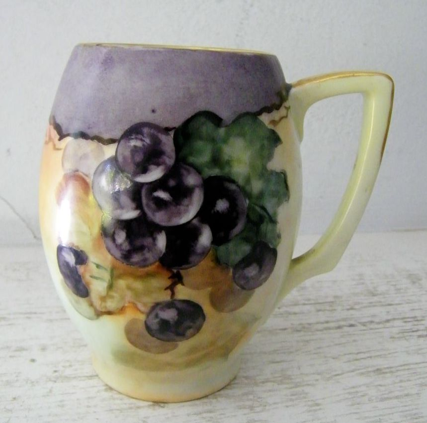 Handpainted Rosenthal Bavarian Stein / Grapes Excellent!
