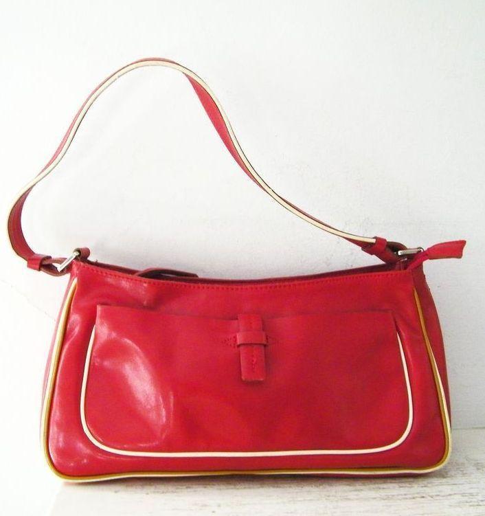 Francesco Biasia Italian Red Leather Handbag Italy