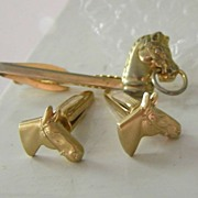 Hickok Horse Cufflinks & Tie Bar