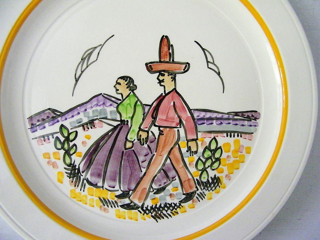 Vernon Kilns Gale Turnbull Plate * Artist signed * 1937