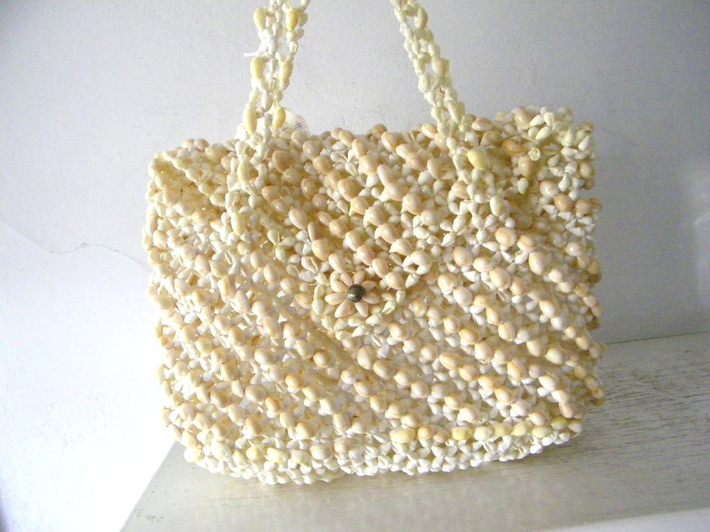 Pacific Island Handbag made entirely of seashells