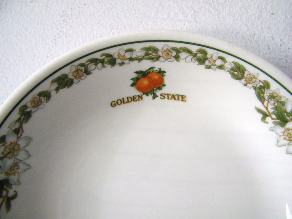 Vintage Southern Pacific Railroad China Golden State Bowls 7 Available HALF OFF if all sold together