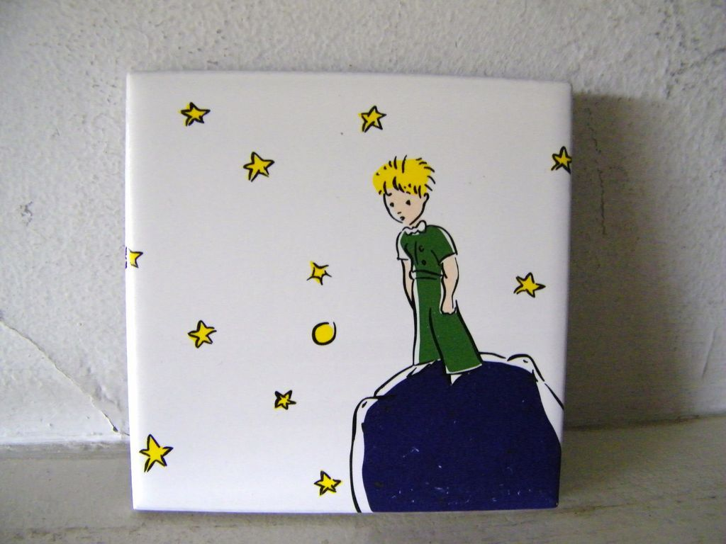 """French Ceramic Tile """"The Little Prince"""""""