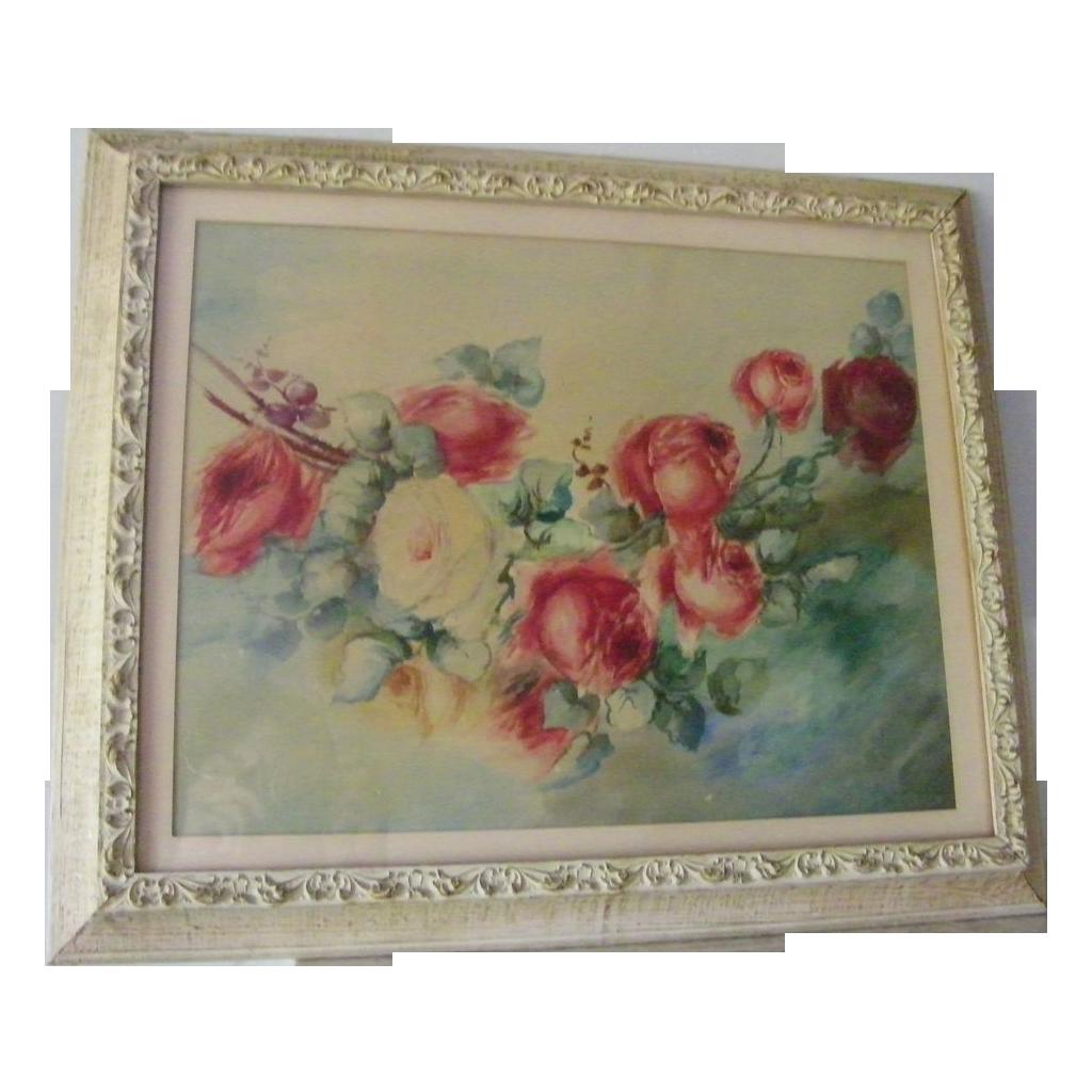 16 x 20 Original Watercolor Painting Roses FREE Ship!