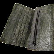 Genuine Water Buffalo Checkbook Wallet  mint