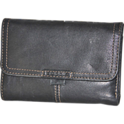 Black Leather Fossil Wallet Removable ID/Credit Card Holder