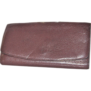 Libaire Swiss Leather Checkbook Clutch Wallet ... made USA