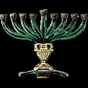 New vintage Hanukkah Menorah 9 branch
