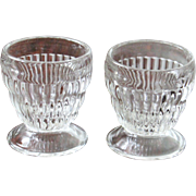 Two vintage ribbed Sherbet Glasses