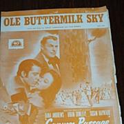 FREE SHIP Dana Andrews, Susan Hayward Movie Sheet Music