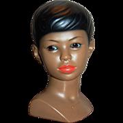 1960s Marwal ~ Polynesian or Hawaiian Boy Ceramic Bust Sculpture