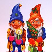 SALE 1960s Large Christmas Gnome Die-Cut Scrap