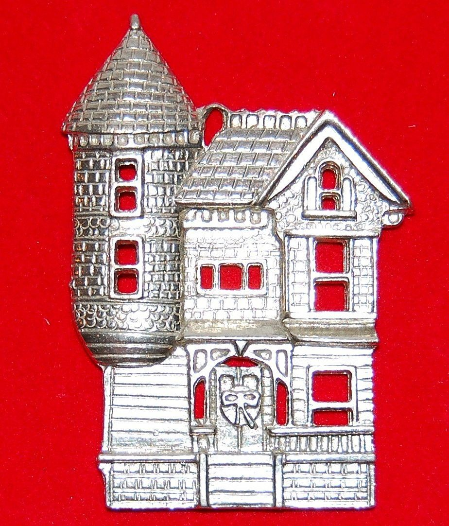 Kirk-Stieff ~ Victorian Style House Pewter Ornament
